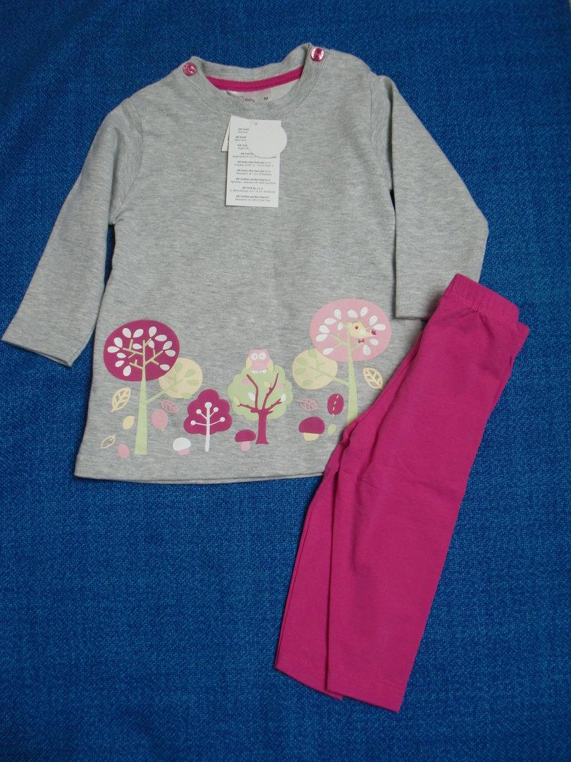kik-set,gr.80:tunika,kleidchen,langarm,7/8 leggings,neu